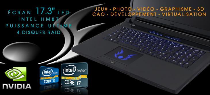 assembleur ordinateur portable puissant jeux et 3d carte. Black Bedroom Furniture Sets. Home Design Ideas